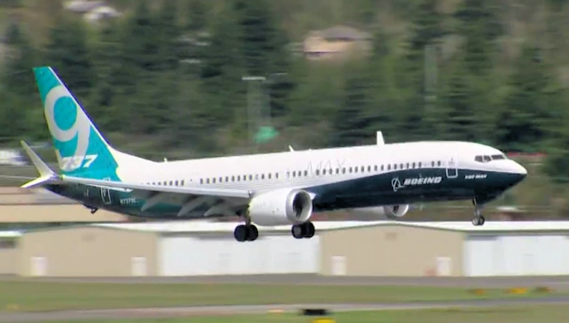 First flight of the 737 MAX-9