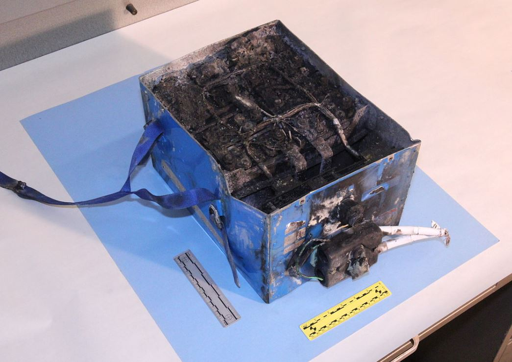 A lithium battery from JAL Boeing 787 JA829J that suffered thermal runaway and caught fire at Boston on 7 Jan 2013