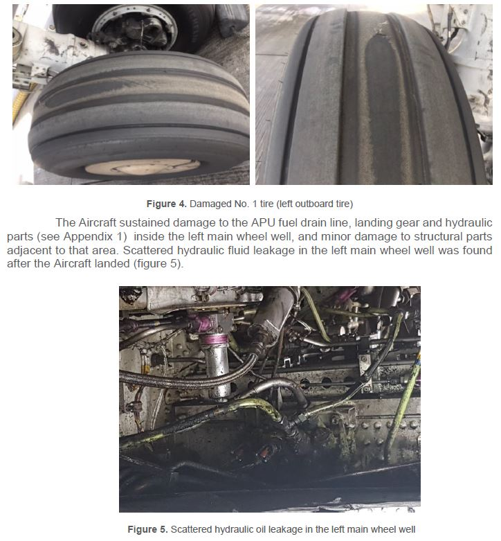 A6-FDS 737-800 Tyre Failure and Loss of Hyd A