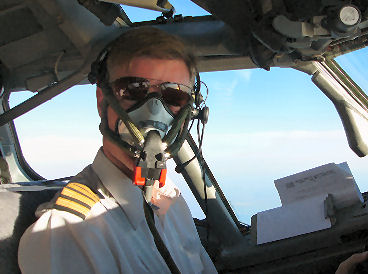 On oxygen during a flight test