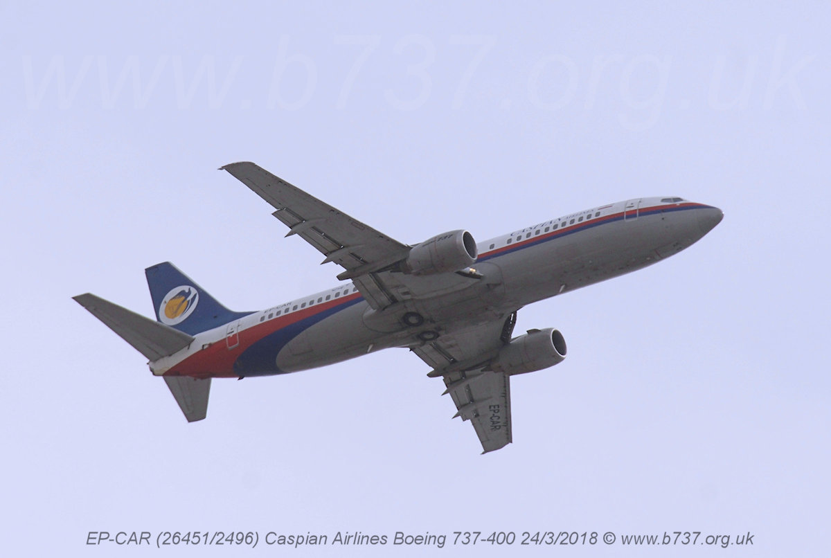 EP-CAR Caspian Airlines Boeing 737-400