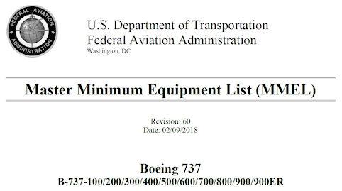 737 FAA Master MEL
