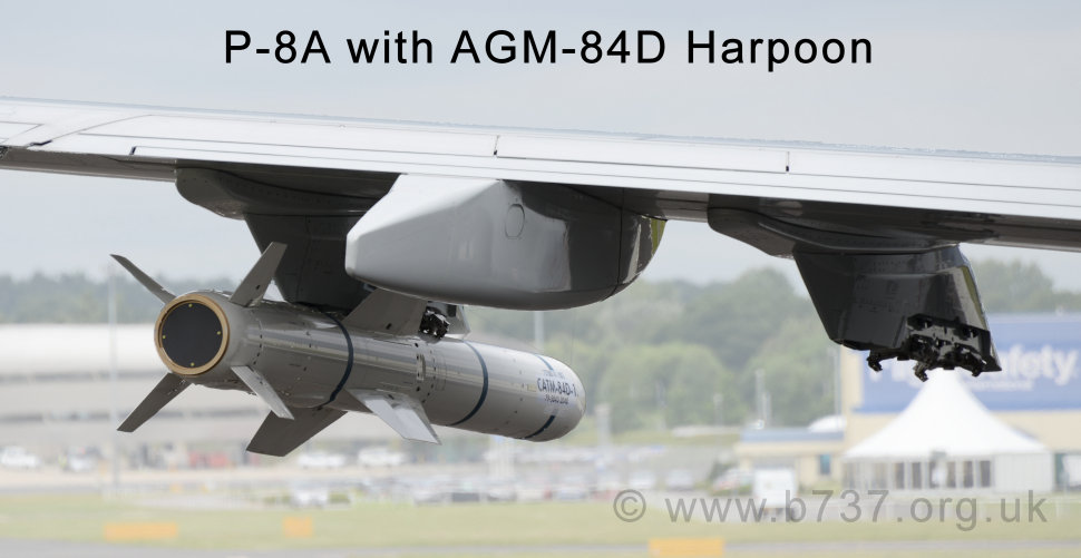 P8-A with AGM-84D Harpoon