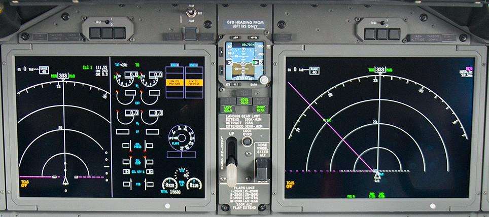 737 Centre Instrument Panel