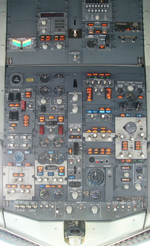 Overhead Aircraft Engine Control Lever : The overhead panel